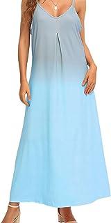 فستان كاجوال بتصميم عصري طويل ومطبوع بنمط مورد للنساء من فراي داي ان