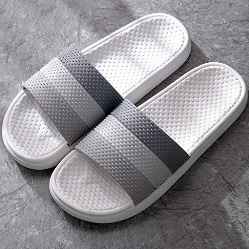 zxb-shop Chanclas Baño Masaje Playa del Deslizador del hogar Zapatillas Ligera Mujeres y Deslizadores del PVC Sandalias de Ducha Piscina Calzado Hombre Zapatillas casa (Color : B, Size : 42-43)
