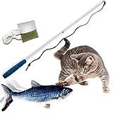 Mediashop Flippity Fish - 1 Stück – elektrisches Katzenspielzeug – Katzenminze - wiederaufladbar mit USB Kabel - Verschiedene Geschwindigkeitsstufen, mit Spielangel | Das Original aus dem TV