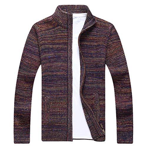 HaiDean heren vest dikke jas trui casual trui lange moderne casual sleeve met rits coltrui jas