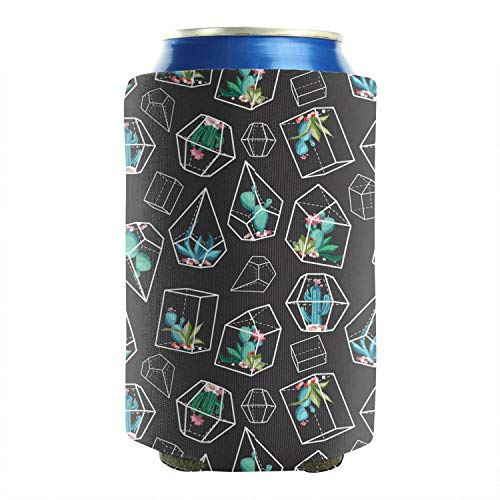 LunchBaggg Cactus Art Container Set of 2 Soft Drink Cans Cooler Sleeve Collapsible Double Sided Cool Camping