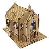 TowerRex Temple Church D&D Miniatures Wooden Laser...