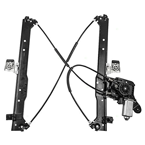 Aftermarket Replacement Drivers Rear Power Window Regulator and Lift Motor Assembly Compatible with 2001-2007 Silverado Sierra Pickup Truck 19301981