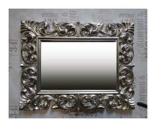 Lnxp Wandspiegel Antik Rokoko 90X70 Barock in Silber Florenza UVP 499€ Spiegel Woe
