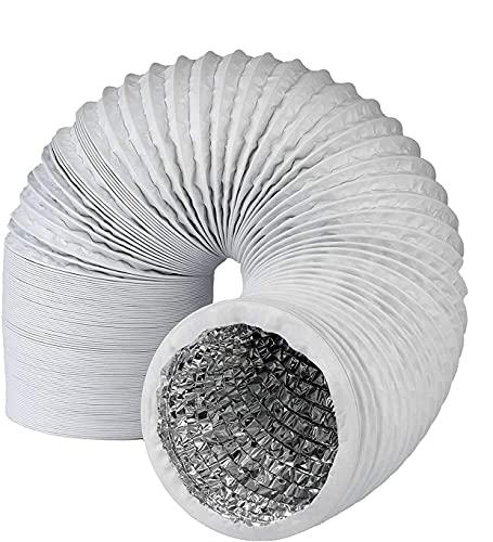 ConPush Profi Abluftschlauch mit Alu Isolierung - Durchmesser 150mm / 152mm Länge für Trockner, Klimaanlage, Abzugshaube, Wäschetrockner stabil und wärmeisoliert (6M)