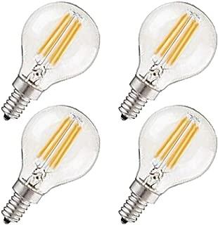 CTKcom G45 4W Candelabra LED Bulbs Dimmable(4 Pack)- E14 Base Vintage Edison Incandescent Bulb 40W Equivalent 2700K Warm White Lamp for Home,Pendant Lights,Sconces,Antique Light Fixtures 110V~130V AC