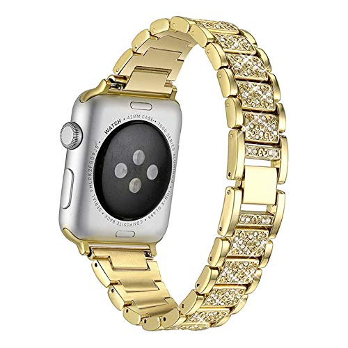 Compatible for Apple Watch Strap 38mm 40mm iWatch Straps Women Girls Rhinestone Wrist Strap for Apple Watch SE and iWatch Series 6/5/4/3/2/1,A,38/40mm