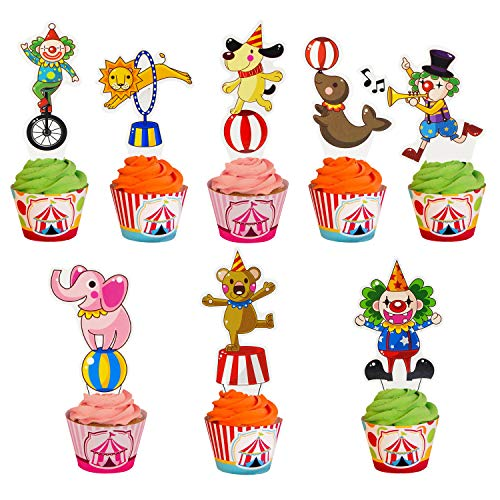 Carnival Cupcake Toppers (Set of 45)