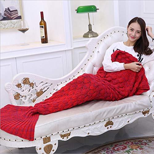 Manta De Sofá Blanket Manta De Sirena Cola De Sirena Suave para Funda De Sofá Relax Sleeping Nap Mantas Coloridas 14070Cm Lotus