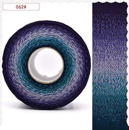 XINSHENG Store Segmento de Color 300g / 1000M Arco Iris teñido de Tejer Hilo Hilado Sombrero...