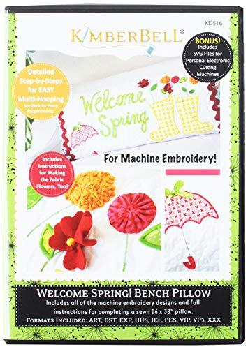 Kimberbell Welcome Spring Bench almohada bordado CD KD516