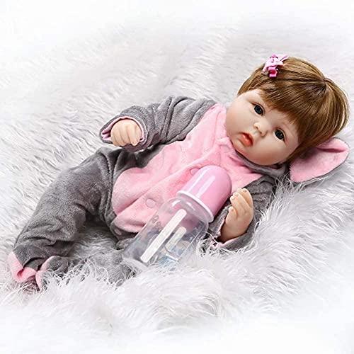 YAYY Muñecas Realistas Reborn 16 Pulgadas 42cm Lifelike Hecho a Mano Cuerpo Soft Toy Pescado Roborn Bebé para 3 años Upgrade