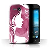 Stuff4® Hülle/Hülle für Huawei Ascend Y600 / Elegante Silhouette Muster/Rote Mode Kollektion