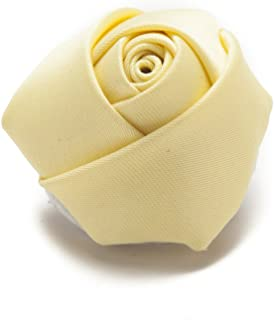 Jacob Alexander Satin Rose Lapel Flower Boutonniere