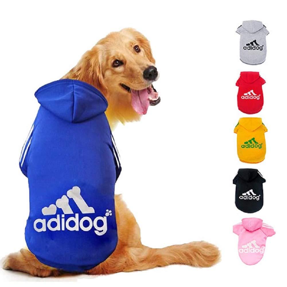 Ducomi Adidog - Sudadera con Capucha para Perros en Algodón Suave - Costuras Resistentes - Disponibles de XS a 8XL - Se envía Desde España (XXL, Azul): Amazon.es: Productos para mascotas