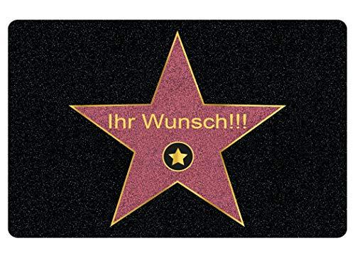 Walk of Fame deurmat met naam - gepersonaliseerd geschenk met naam en ster