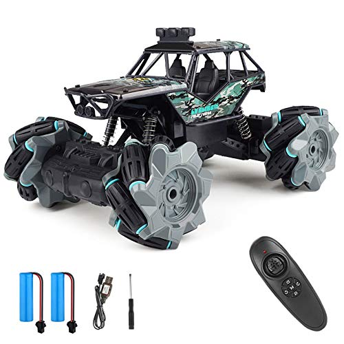 Remote Control Car, 4WD High Speed Scale Racing Monster Vehicle, Hobby RC Cars for Kids and Adults, 1:20 Scale 360° Spins Off Remote Control Crawler, Remote Control Monster Truck for All Terrains