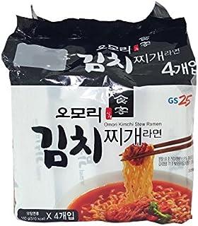 Korean Hot & Spicy Noddle GS25 Omori Kimchi Stew Ramen 4packs