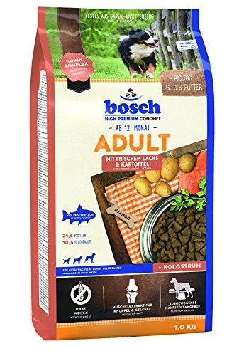 Bosch HPC Adult met verse zalm & aardappel | Droog Hondenvoer voor volwassen honden van alle rassen, 5 x 1 kg