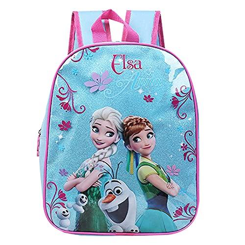 Babioms Mochila Infantil, Bolsas Escolares De Dibujos Animados para Niñas Y Niños, Mochila infantil de Elsa y Anna