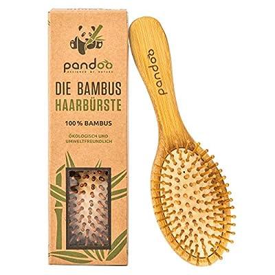 pandoo Bambus Haarbürste Naturborsten