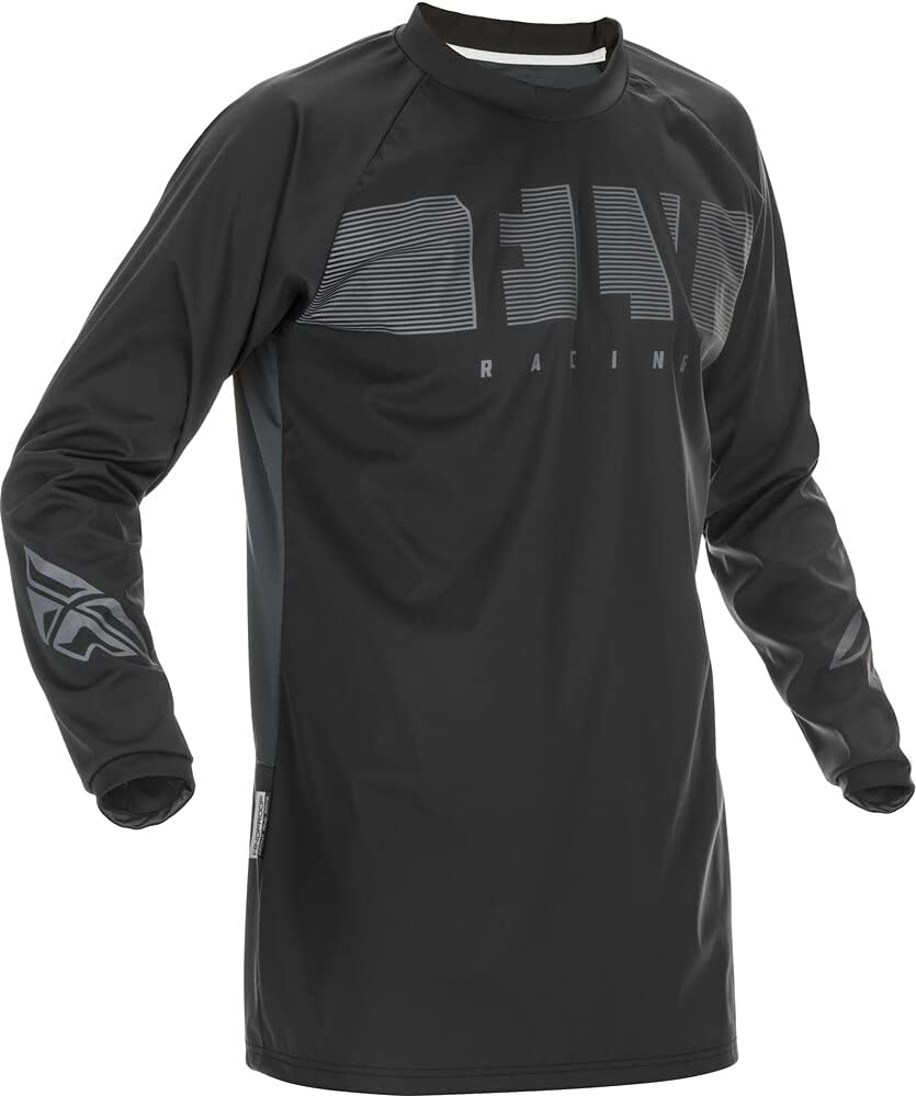 Fly Racing Windproof Riding Black Grey Jersey Some reservation Large Limited price sale