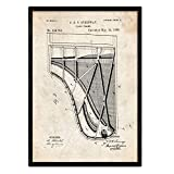 Nacnic Poster Patent Klavier 2. Folie mit altem