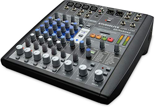 8-Kanal Mixer Hybrid PRESONUS mit Audio-Interface