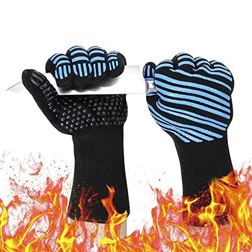 GTEFWZ Küche Ofen Handschuhe Grillhandschuhe, hitzebeständige Handschuhe zum Grillen, Kochen, Backen sind sehr geeignet für Außen- und Innen