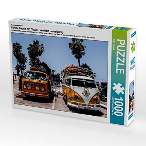 CALVENDO Puzzle Venice Beach 2017 bunt - verrückt - einzigartig 1000 Teile Lege-Größe 64 x 48 cm Foto-Puzzle Bild von Aussiefreak