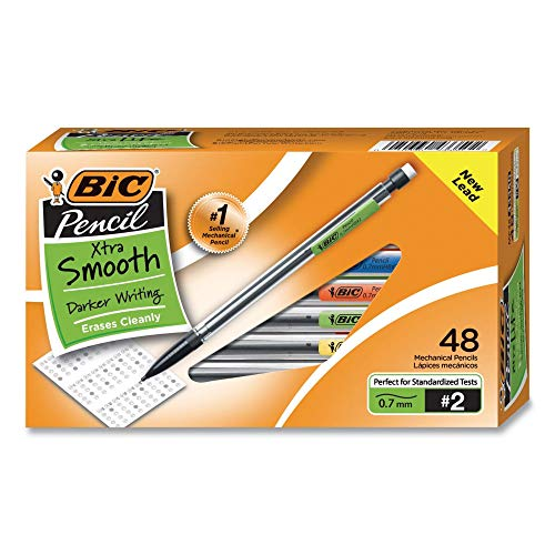 BIC Xtra Life Comfort Mechanical Pencils, Smooth Writing, 0.7mm, 48 Count