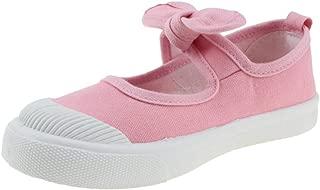 Maxu Girl's Canvas Flats Princess Bowknot Shoes(Toddler/Little Kid/Big Kid)