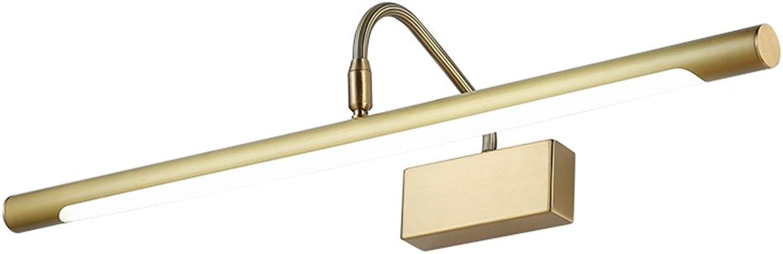 Wasserdicht Anti-Fog-Retro-amerikanischen Stil LED-Spiegel-Frontleuchte Badezimmer Spiegel Schrankleuchten Schlafzimmer Schminktisch Lampe ( gre   43cm9w )
