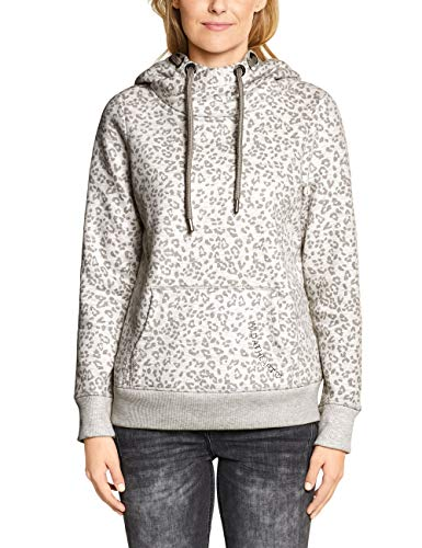 Cecil Damen 301036 Sweatshirt, Mehrfarbig (Off White Melange 21111), Large (Herstellergröße:L)