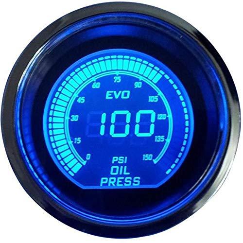 """IENPAJNEPQN 2\"""" 52MM Öldruckmesser Digital-0-150 PSI Ölpresse Spur Blau führte mit Sensor Auto-Kraftstoff zumessen Tester Aceite Motor 6256"""
