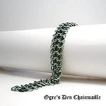 Handcrafted Vertebrae Chainmaille Bracelet – Leaf