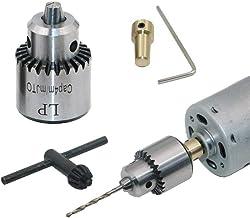 Mini portabrocas eléctrico de 0,4 – 4 mm, portatil de mano taladro de mano grifo montado para eje de motor