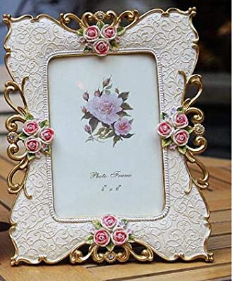 4882d279fda BeesClover Resin Photo Frame European Style Photo Frame Creative Wedding  Fashion Simple Home Decoration Gift 6inch