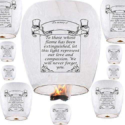 Sky Lanterns 10-Pack ECO Friendly Paper...