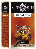 Stash Tea, Premium, Decaf Tea, Chocolate Hazelnut, 18 Tea Bags, 1.2 oz (36 g)