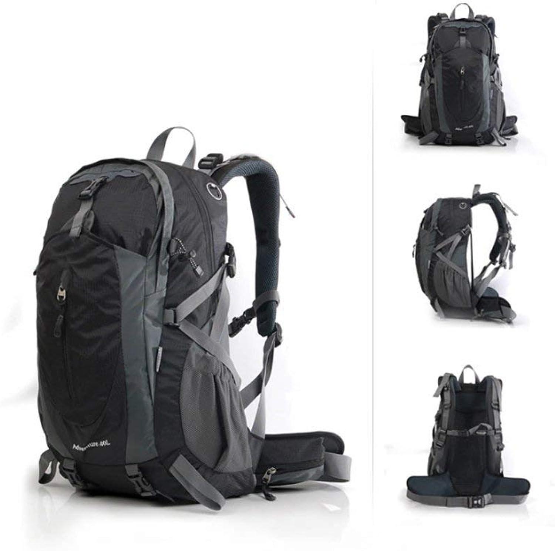Ericcay Trekkingrucksack Kletternde Und Frauen Die Rucksackreisetasche Im Freien Wandern Stilvolle Unikat Rucksack Farbe schwarz XL (Farbe   Schwarz, Größe   XL)