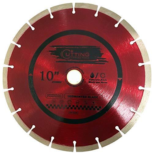 Cutting Pro 10 inch Dry or Wet Cutting General Purpose Power Saw Segmented Diamond Blades for Concrete Stone Brick Masonry (10