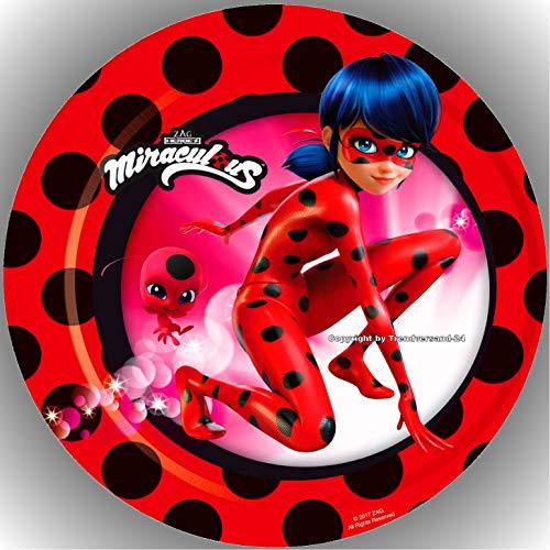 Fondant Tortenaufleger Tortenbild Geburtstag Miraculous Ladybug AMA11
