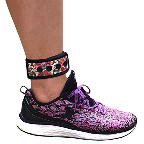 DDJOY Ankle Strap for Compatible with Fitbit & Garmin, Ankle Band for Compatible with Charge 2/3 Alta/HR Flex/2 Fitbit One or Garmin Vivofit/2/3/4, Ankle Band for Men and Women (Paisley, Medium)