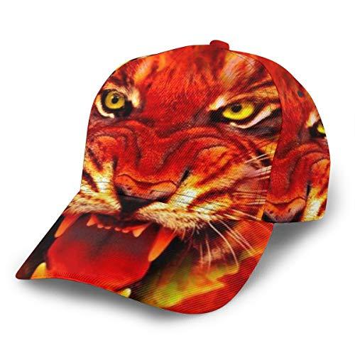 Gorra de béisbol con Cara de Tigre 3D, Ajustable, Unisex, Color Negro