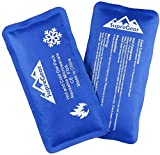 SupreGear Reusable Hot Cold Compress Gel Pack, Therapy Ice Packs for Injuries, Support Knee Elbow Back Injury Recovery, Alleviate Pain Caused by Joint, Rotator Cuff and Muscle (2 Pack)