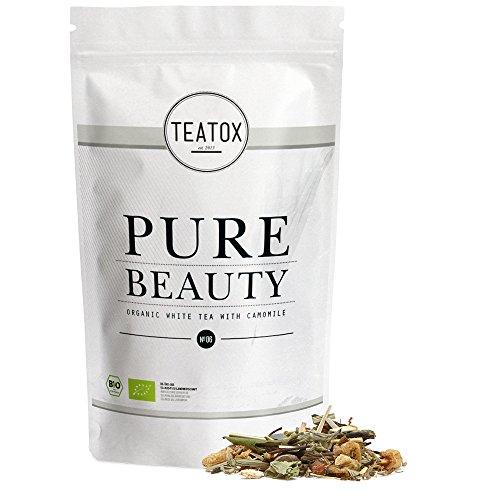 TEATOX Pure Beauty, Bio Weisser Tee mit Kamille (loser Tee im Grobschnitt im Ziplock)