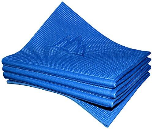 Khataland YoFoMat® - Best Travel Yoga Mat - Royal Blue, Extra Long 72', 1/6' Thick -Foldable to 12'x10'x3', Eco Friendly, Free...