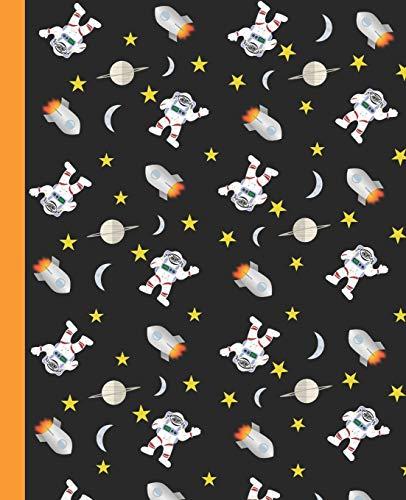 CUADERNO ESCOLAR: Cuaderno de hoja cuadriculada    Tamaño óptimo para la mochila o cartera del colegio    120 páginas de Papel de alta calidad   Lindo patrón del espacio.