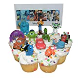 Disney Pixar Figure Cake Toppers / Cupcake Party Favor Decorations Set of 12 from Toy Story, Cars, Where's Nemo and Monsters University! by Pixar
